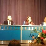 Painel: O direito a saúde na perspectiva da Bioética Cotidiana de Giovanni Berlinguer.  ( A partir da direita: Sandra Caponi, Volnei Garrafa, Marta Verdi e Rita Gabrielli)